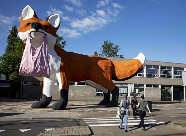 Bospoldervos / Fox Sculpture