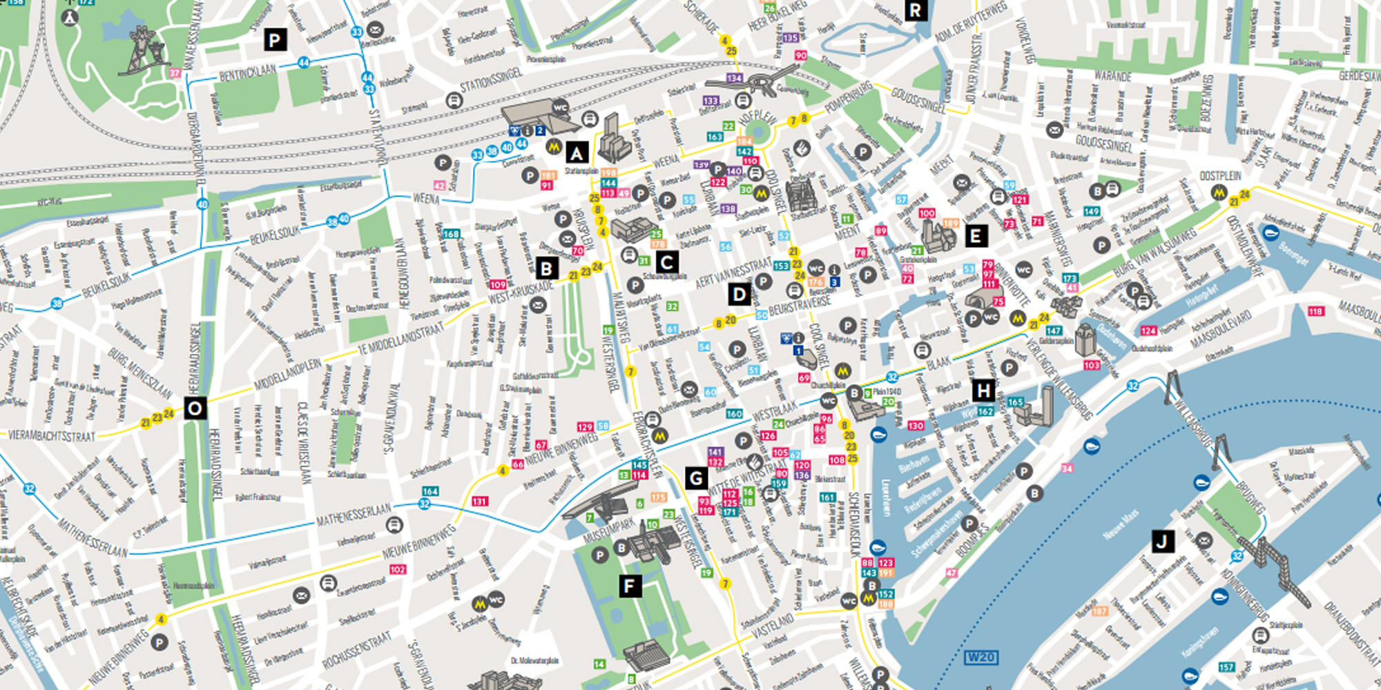 City Map Rotterdam | Rotterdam Tourist Information